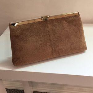 Light brown suede purse